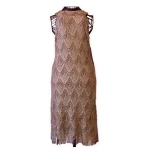 🎉 NEW!! S.L. Fashions Gold Cocktail/Party Dress